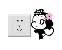 4pcs Creative Switch Stickers,Little Lovely Monkey Children Room Wall Stickers Free Shipping