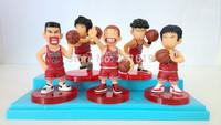Free shipping SD basketball player figure SLAM DUNK models Shohoku team Sakuragi Hanamichi Rukawa Kaede 5 pcs a lot