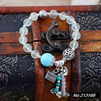 925 pure silver jewelry Natural grape stone. Coarse 8mm. Female models bracelet xh036142w