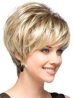 Light Blonde Straight Short Hair Wigs Short Women's Fashion Wig