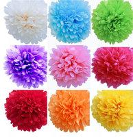 8 inch 20cm 100 pcs/lot Tissue Paper Flower Ball Pompom party  Decor  Shower Decorations