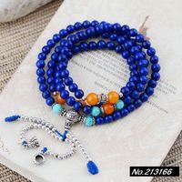 925 pure silver jewelry Natural  Lapis lazuli. Coarse 5mm. Female models bracelet xh036760w