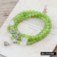 925 pure silver jewelry Chalcedony  6mm. Female models bracelet xh036738w