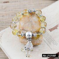 925 pure silver jewelry Lemon Quartz .12 mm. Atmospheric female models bracelet xh037100 w