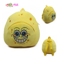 Gift for baby 1pc 27cm cartoon laugh Spongebob plush backpacks infant super cute candy shoulder bag princess children toy