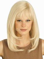 Fashion wig New Charm Women's Medium long Platinum Blonde wigs