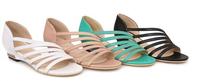 2014 summer fashion low in 3.5cm wedges sandals cutout women's platform shoes 40 - 43 large plus size