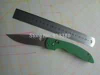 New High Quality Green G10 Spyderco 806 AFCK Model D2 Satin Folder Camping knife Free Shipping