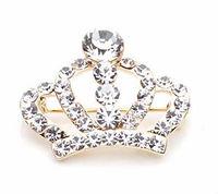 one piece Free shipping Tiara Brooch Decorative Garment Rhinestone Brooch Wedding Bridal Crown Brooch Pin BR018