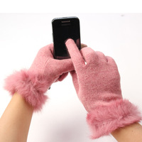 2014 new winter thick cashmere wool lady a Bluetooth touch-screen features warm gloves