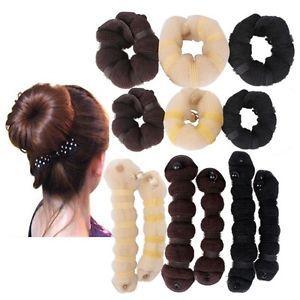 New2pcs/set(1 large 1 small) Hair elegant Magic Style buns Maker 3 colors2014(China (Mainland))