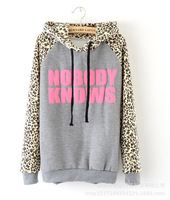 sports suit new arrival sale pullovers moletom hoddies women 2014 hoodies sports sweatshirt autumn nobody knows hooded casual