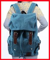 New College Wind Backpack Canvas Shoulder Bag Backpacks Schoolbag Korean Men Travel Bag Blue / Black /Brown/Green Color 52259