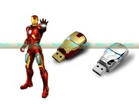 50pcs/lot Cheap Price 16GB 32GB 64GB  Iron man USB 2.0 Flash Drive / Pendrive Sticks without package / free shipping