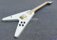 Electric Guitar, customised OEM model,V shape,special customised headstock shape,gold parts.HH pickups,maple fingerobard!