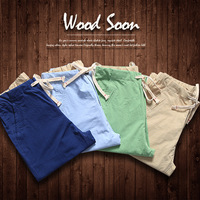 2014 spring casual pants male slim long trousers the trend fashion 100% cotton straight pants