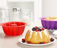 Silicone Savarin Moulds Cake Mould Chiffon Cake Baking & Pastry Tools Medium Size 4 Pcs/lot