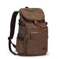 Vintage backpack fashionable casual male student backpack school bag travel bag
