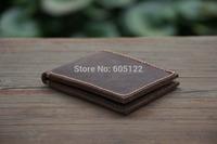 Leather Men's Wallets Groomsmen Gifts Leather Card Holder Case Billfold Women's Minimalist Short Wallet Birthday Gifts-R024-1