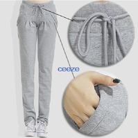 2014 Autumn New 100% Cotton Women's Sports Pants Casual Loose Capris Thin Trousers Ankle Length Pencil Pants S-XXL