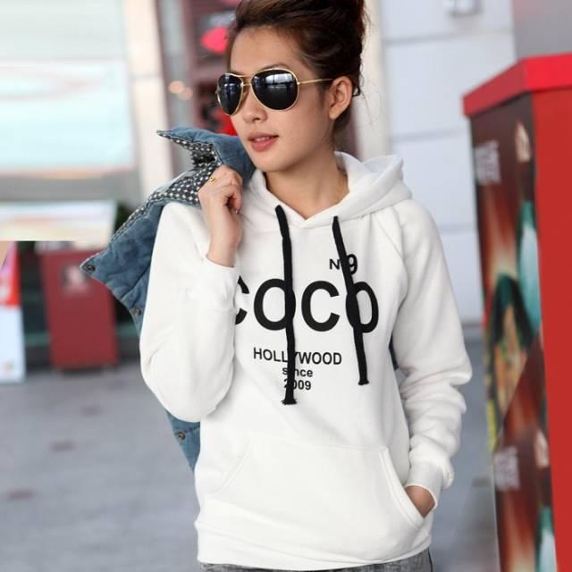 2014 neue mode homme femme cc Hip-Hop Nr. 9 coco drucken Straße rundhals hoodie fleece-sweatshirt mit hut große größen, m, l, xlwl0003