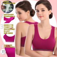 Cotton Sports bra wireless shockproof running vest design young girl bra push up tank fitness sleeping underwear sport bra