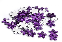 Free Shipping ! 1000 pcs / lot 12mm Purple Acrylic flower Table Confetti Wedding /  Valentines Table Diamond confetti