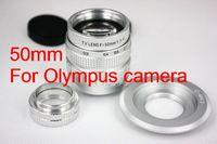 50mm f1.4 CCTV TV Lens + C Mount Micro 4/3 M4/3 M43 Adapter + Macro Ring for Olympus camera