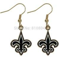 2014 free shipping NEW trendy Orleans Saints Team Logo Dangle zinc alloy  Earrings for Women