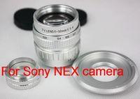 50mm f1.4 CCTV TV Lens for Sony nex camera nex3 nex5 + C Mount to NEX adapter + Macro Ring