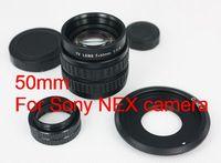 50mm f1.4 CCTV TV Lens for Sony nex3 nex5 + C Mount to NEX adapter + Macro Ring
