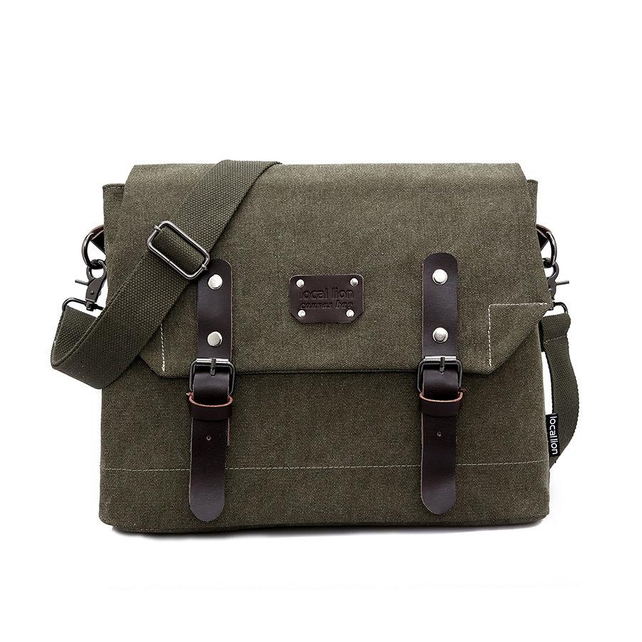 2014 Man Retro cover canvas shoulder bag diagonal bag men's business casual canvas messenger bag N22(China (Mainland))