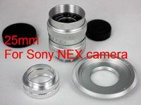 25mm f/1.4 CCTV Lens for Sony nex nex3 nex5 + C Mount to NEX adapter + Macro Ring