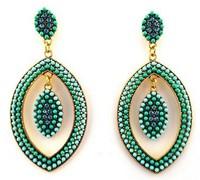 Luxury Large Rhinestone Retro Ethnic Party Women Dangle Earring. Ethnic Vintage Statement Fashion Jewelry Accessories