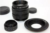 50mm f1.4 CCTV TV Lens + C mount to Micro M4/3 + Macro Ring for Olympus&Panasonic GF3 GF2 GF1 G3 GH1 GH2 EP1