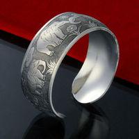 2014 New brand Fashion pulseiras femininas 925 Thai silver women bijoux chain cuff bracelets bangles jewelry wristband ZB9409
