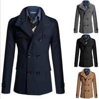 Casaco Masculino Promotion No Full 2014 New Men's Business Coat / Men Korean Version of The Long Double-breasted Jacket Slim