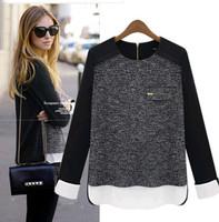 blusas femininas 2014 Spring Autumn&Winter elegant fashion ladies knitwear womens long sleeve t shirt tops for women