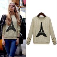 blusas femininas 2014 new clothing Autumn&Winter Women Shirts Fashion Eiffel Tower patterns blouse T Shirt