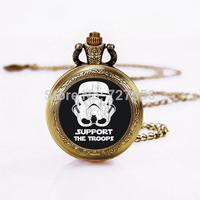 Wholesale  Star Wars  Pocket Watch Necklace,  Star Wars Personalized Gift , Glass Locket Pocket Watch necklace