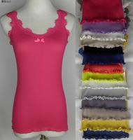 13 color Free Shipping Silk V-neck seamless garment mulberry silk vest