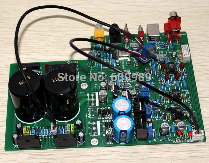 DAC1955 AD1955+WM8805+PCM2706+AD827 LM3886TF Amplifier Optical Fiber Coxial USB Decode Amp(China (Mainland))