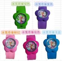new item Free shipping 50pcs/lot frozen elsa anna cartoon slap watches,Cartoon watch,best gift to children