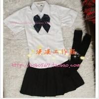 Spring paragraph short-sleeve skirt girls school uniform sailor suit school wear fashion school uniforms