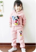 new autumn 2014 fashion brand girls minnie mouse clothing sets children sets sports clothes clothing 100-140cm freeshipping