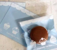 300pcs/lot blue small cake lace hand make baking supplies Plastic cake biscuit packaging bag cookie bag