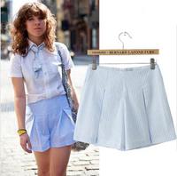 Fashion 2014 New Summer US Style Temperament Solid Slim Stripe Casual Short Pants S,M,L WKZ-1044