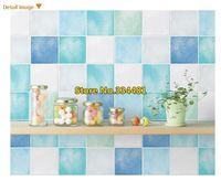 Free Shipping PVC self-adhesive Mosaic wallpaper/ Waterproof high quality wall sticker home decor kitchen/bathroom HWP-21623