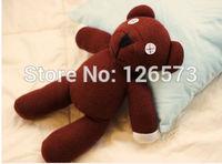 "Free Shipping 9.8"" Mr Bean Teddy Bear Animal Stuffed Plush Toy, Brown Figure Doll Child Christmas Gift Toys Wholesale"