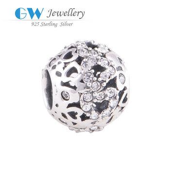 Супер дело мода ажурные шарм европейский бусины с любовь браслеты GW изящных ювелирных ...